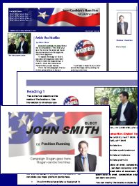 political campaign brochure template - online candidate now offering political brochure templates