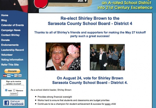 Shirley Brown - Sarasota County School Board Election