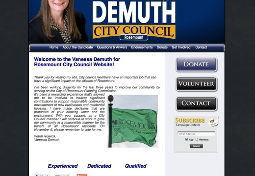 Vanessa Demuth for Rosemount City Council
