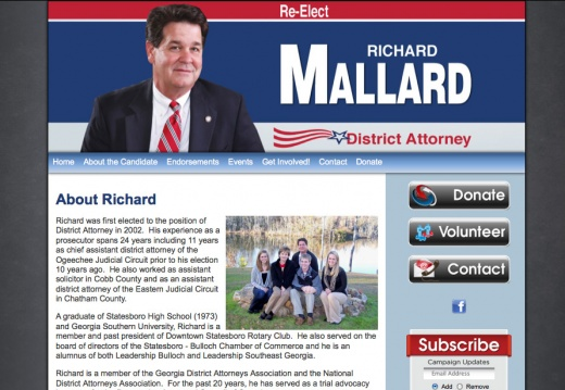 Re-Elect Richard Mallard - District Attorney