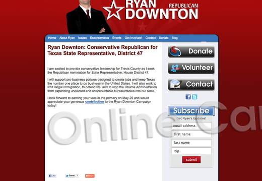 Ryan Downton Conservative Republican for Texas State Representative, District 47