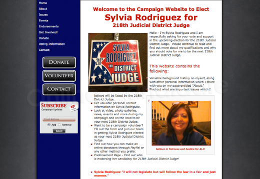 Sylvia Rodriguez for 218th Judicial District Judge