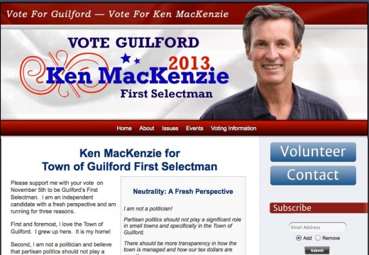 Ken MacKenzie for Town of Guilford First Selectman