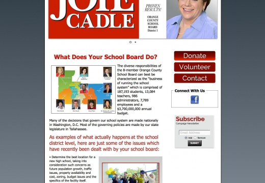 Joie Cadle for School Board
