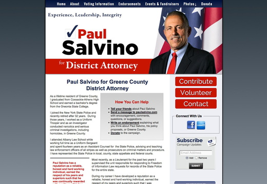 Paul Salvino for Greene County District Attorney