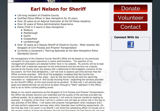 Earl Nelson for Cheshire County Sheriff