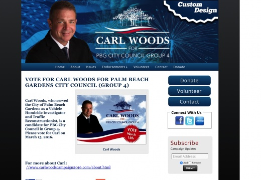 Carl Woods for Palm Beach Gardens City Council