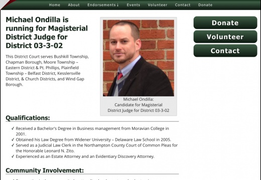 Elect Michael Ondilla for Magisterial District Judge