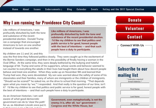 Mark Santow for Providence City Council Ward 3