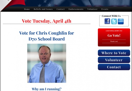 Chris Coughlin for D70 School Board