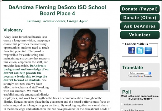DeAndrea Fleming for DeSotoISD School Board Place 4