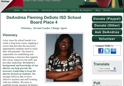 DeAndrea Fleming DeSoto ISD School Board Place 4