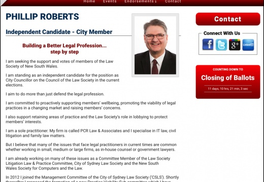 Phillip Roberts for City Councillor
