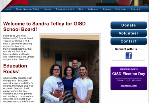 Sandra Tetley for GISD School Board District 6-F