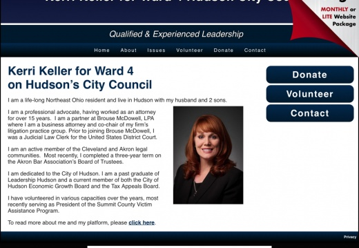 Kerri Keller for Ward 4 Hudson City Council