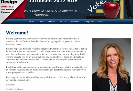 Jennifer Jacobsen for Fairfield Board of Education