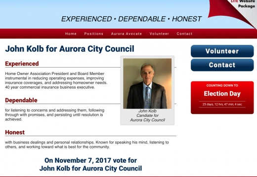 John Kolb for Aurora City Council