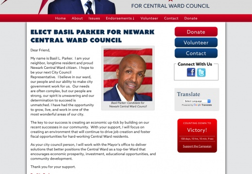 Basil Parker for Newark Central Ward Council