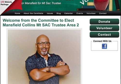 Elect Mansfield Collins Mt SAC Trustee Area 2