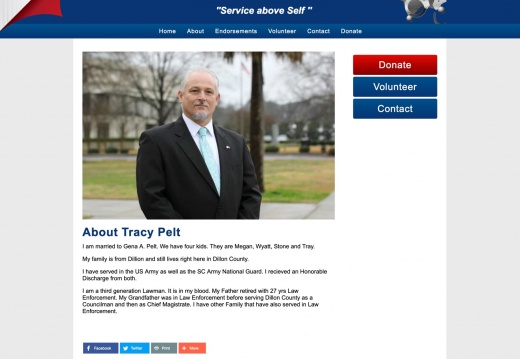 Tracy Pelt for Dillon County Sheriff