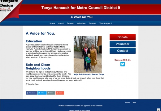 Tonya Hancock for Metro Council District 9