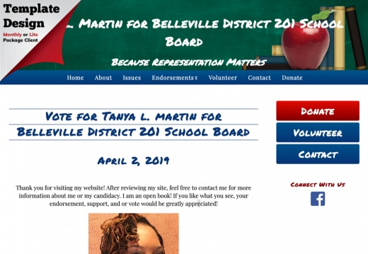 Tanya l. Martin for Belleville District 201 School Board
