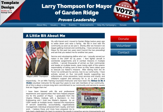 Larry Thompson for Mayor of Garden Ridge