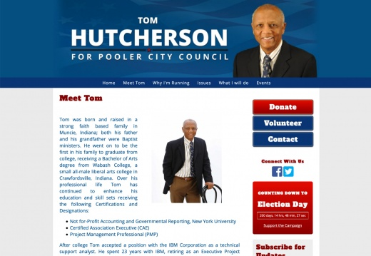 Elect Tom Hutcherson for Pooler City Council