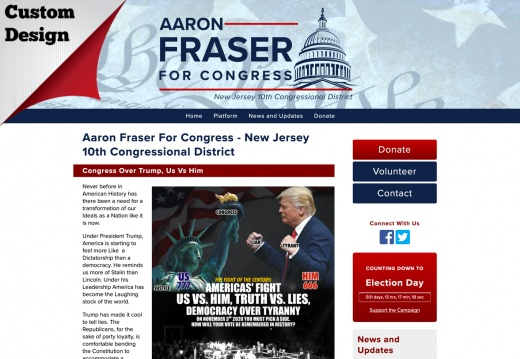 Aaron Fraser For Congress - New Jersey 10th Congressional District