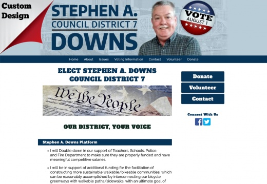 Stephen A. Downs, Davidson County Council – District 7