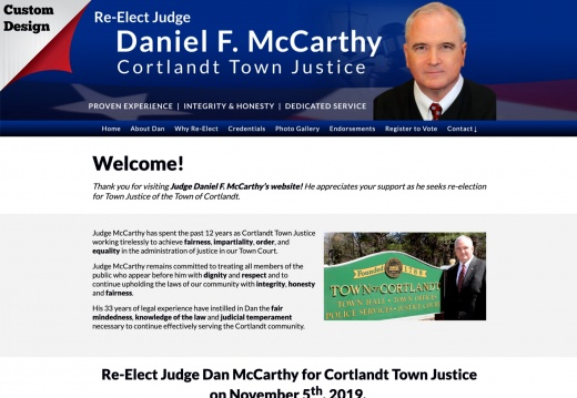 Re-Elect Judge Dan McCarthy for Cortlandt Town Justice