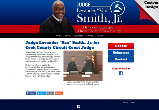 Judge Levander ''Van'' Smith, Jr. for Cook County Circuit Court Judge