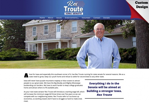 Rex Troute for Iowa State Senate
