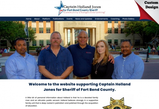 Captain Holland Jones for Sheriff of Fort Bend County