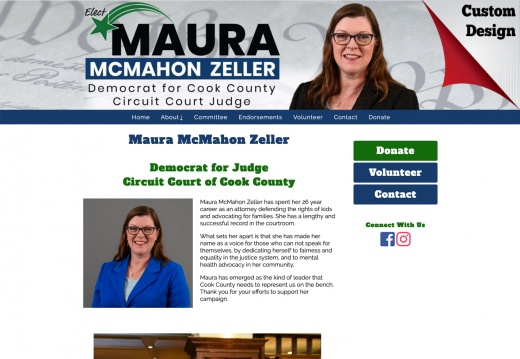 Maura McMahon Zeller Democrat for Judge Circuit Court of Cook County