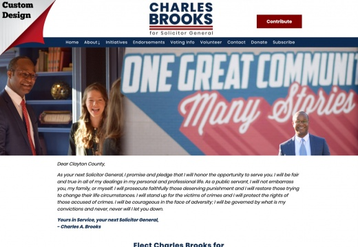 Charles Brooks for Solicitor General