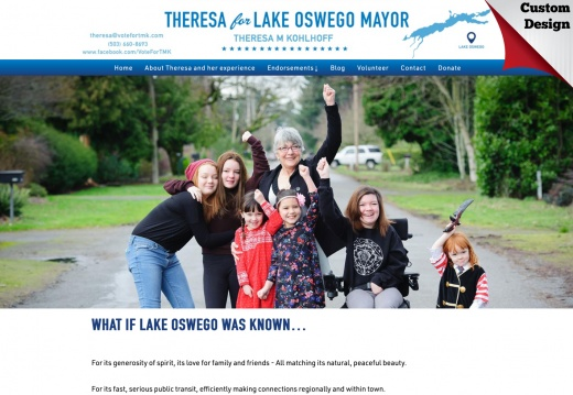 Theresa Kohlhoff for Mayor of Lake Oswego