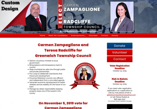 Carmen Zampaglione and Teresa Radcliffe for Greenwhich Township Council