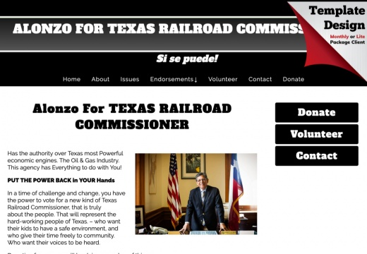 Alonzo For TEXAS RAILROAD COMMISSIONER