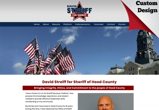 David Streiff for Sheriff of Hood County