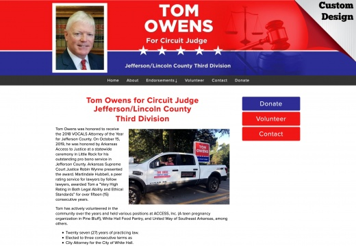 Tom Owens for Circuit Judge Jefferson:Lincoln County Third Division