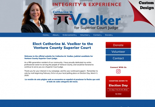 Elect Catherine M. Voelker to the Ventura County Superior Court