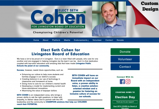 Elect Seth Cohen for Livingston Board of Education